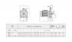 одноступенчатый моноблочный муфтовый насос Speroni серии С 32 0