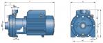 Моноблочный центробежный насос 2CPm 160/10( 25/16B) 0